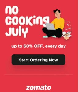 ZOMATO NEW FOOD OFFER