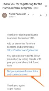 numio pay airdrop loot offer  refer and earn
